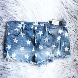Mossimo High Waisted Star Cutoff Shorts